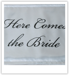 here comes the bride banner photos