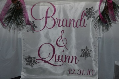Monogram Table Runner Wedding