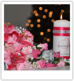 wedding monogram unity candle pictures