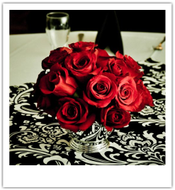 wedding damask table runner pictures