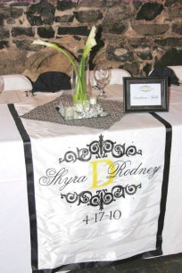 Monogram Wedding Table Runner