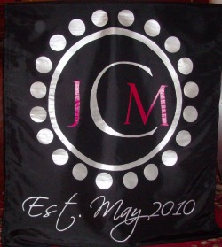 Monogram Head Table Wedding Runner