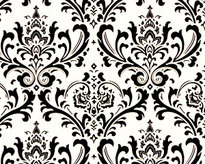 Traditions Black and White Damask Napkins