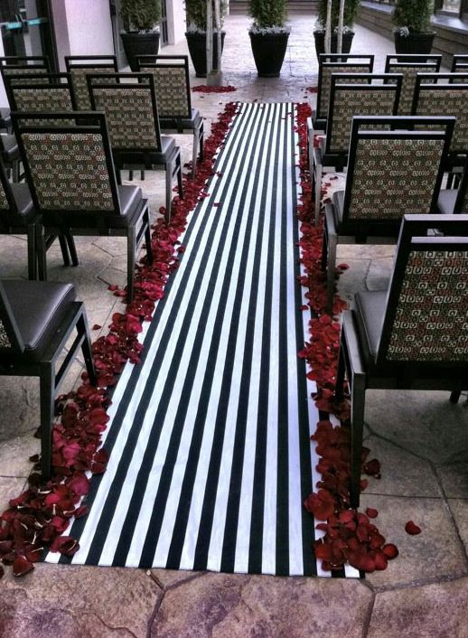 black and white damask table runner